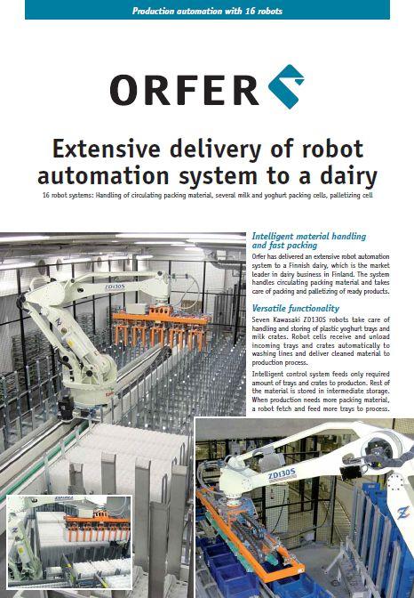 Production automation with 16 robots