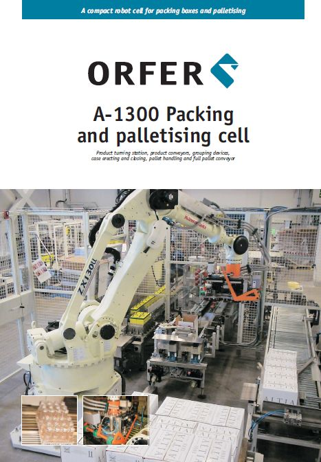 Packing and palletizing cell